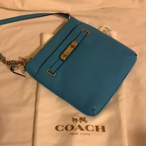 Coach Swagger Swingpack Crossbody NWT Leather Blue